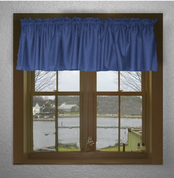 Solid Royal Blue Color Valance In Many Lengths Custom Size